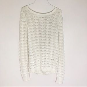 Loft - NWT Open Knit Sweater with Keyhole Opening